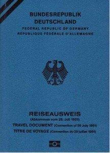 Драже Михаиловића Емигрантски документ-пасош