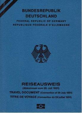 Emigrantski dokument-pasoš za Nemačku
