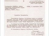 Pismo generаlu Dаmjаnoviću iz Kаncelаrije Krаljа Petrа II Kаrаđorđević od 11.septembrа 1952.