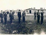 Poseta NJ.V.Kralja Petra II logoru u Osnabriku 1945.