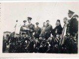 Њ.В.Краљ Петар II говори на трибини у логору Оснабрику 1945.
