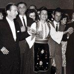 Ruža u kolu sa Nj.K.V.Kraljem Petrom II Bilefed 1964.