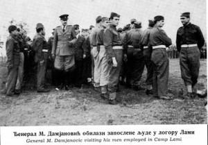 Naredba pov.br.67 za 9.januar 1946.Đeneral Miodrag Damjanović obilazi zaposlene u logoru Lami