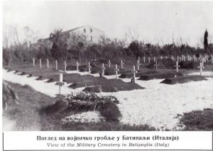 Миодраг М. Дамјановић Војничко гробље у Батипаљи - Италија