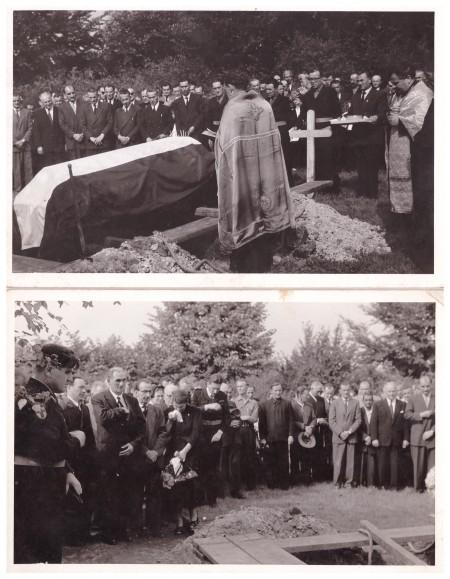 Na sahrani đenerala Miodraga Damjanovića Ruža Jovanović u dubokoj žalosti
